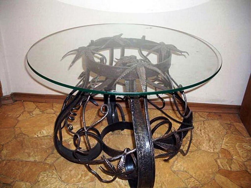 Круглый стол из металла своими руками 30